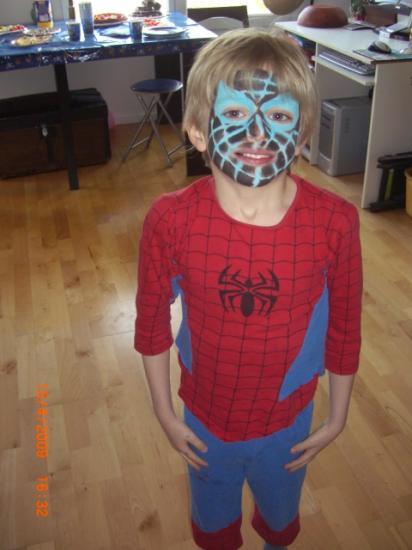 Spider Man Bleu/Noir